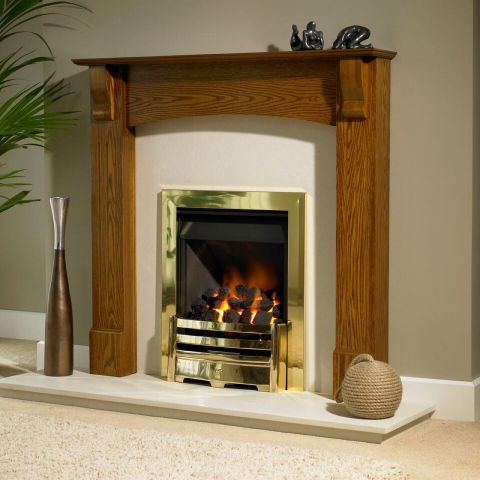 Trent Fireplaces - Siena Fire Surround - Siena - In Light Oak