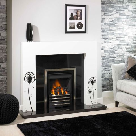 Square Fire Surround - Square Fire Surround - In White