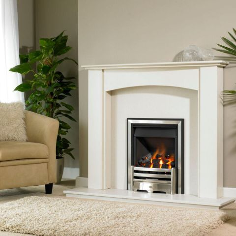Trent Fireplaces - Zodiac Fire Surround - Zodiac Fire Surround - In Silkstone White