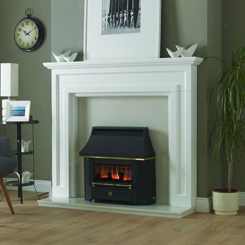 Black Beauty Slimline Outset Gas Fire -