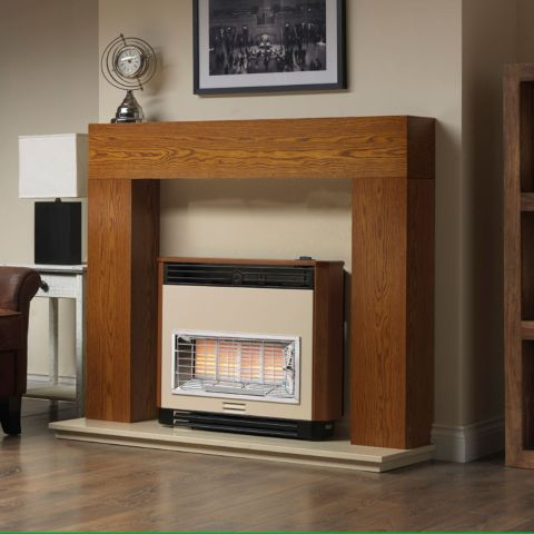 Brava Radiant Outset Gas Fire - Brava Radiant Outset Gas Fire - Teak