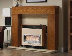 Brava Radiant Outset Gas Fire - Brava Radiant Outset Gas Fire - Teak