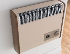Brazilia F5S Gas Wall Heater - Beige & Oak