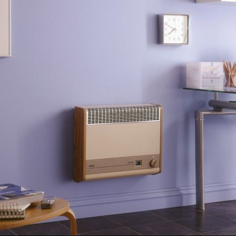 Brazilia F8S Gas Wall Heater - Beige & Oak