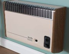 Brazilia F8ST Gas Wall Heater - Beige & Oak