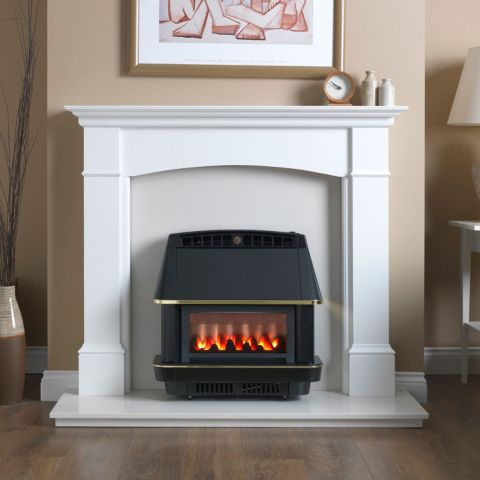 Valor - Firecharm LFE Electronic Outset Gas Fire - Firecharm LFE Electronic Outset Gas Fire-Black
