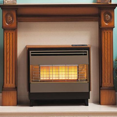 Valor - Firegem Visa Highline Deluxe Outset Gas Fire - Teak