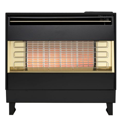 Firegem Visa Outset Gas Fire - Firegem Visa Outset Gas Fire - Black/Brass