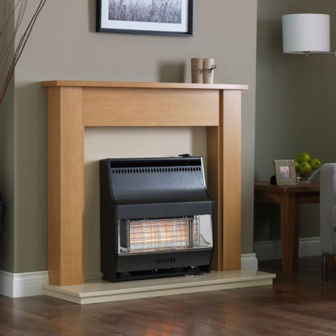Valor - Firelite Radiant Outset Gas Fire - Firelite Radiant Outset Gas Fire - Black