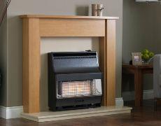 Firelite Radiant Outset Gas Fire - Firelite Radiant Outset Gas Fire - Black