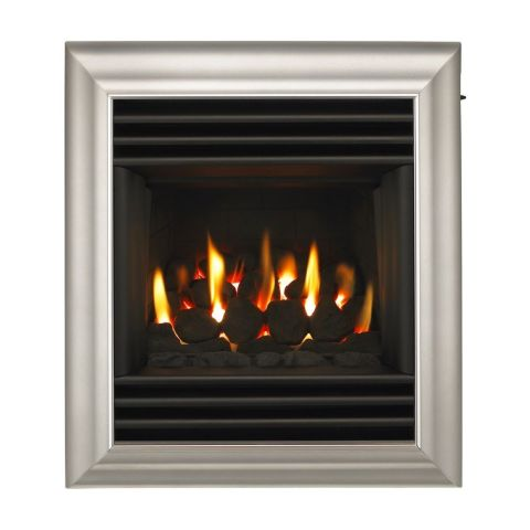 Valor - Harmony Full Depth Homeflame Gas Fire - Harmony Full Depth Homeflame - Silver