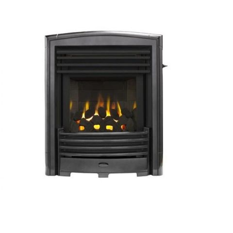Petrus Slimline Homeflame Gas Fire - Petrus Slimline Homeflame - Black Chrome