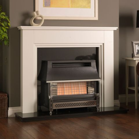 Valor - Sahara Radiant Outset Gas Fire - Sahara Radiant Outset Gas Fire - Pewter/Chrome