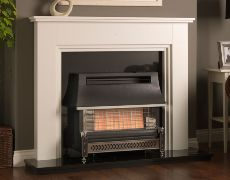 Sahara Radiant Outset Gas Fire - Sahara Radiant Outset Gas Fire - Pewter/Chrome