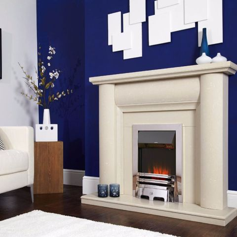 Accent Traditional Electric Fire - Chrome