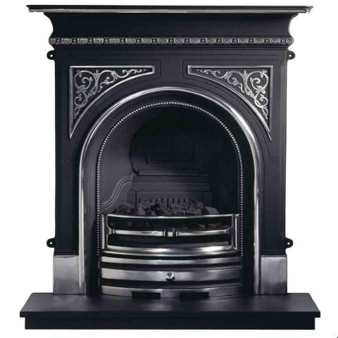 Celtic Combination Cast Iron Fireplace - Highlighted