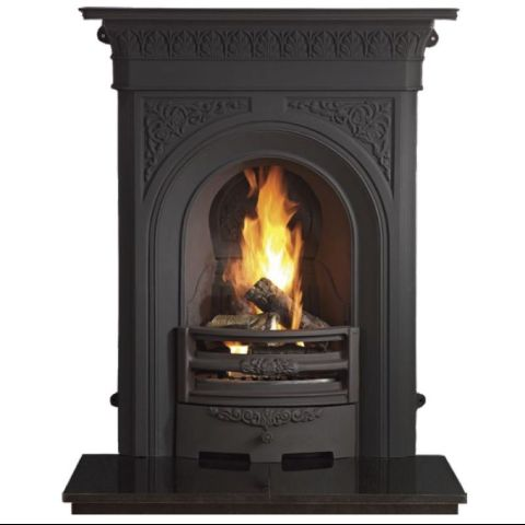 The Gallery Collection - Nottage Combination Cast Iron Fireplace - Black