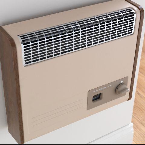 Valor - Brazilia F5S Gas Wall Heater - Beige & Oak