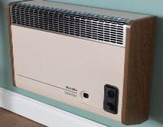 Brazilia F8ST Gas Wall Heater - Beige & Oak